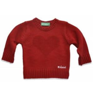 Пуловерче за момиче със сърце