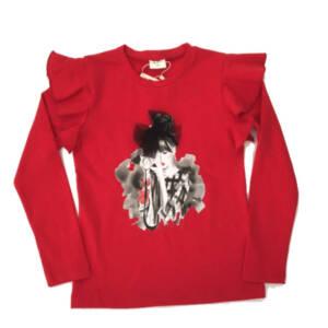Блуза за момиче в червено