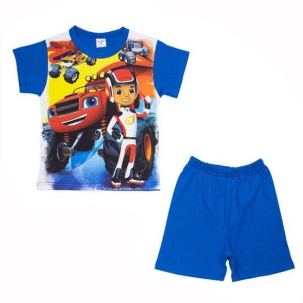 Детска пижама с къс ръкав за момче Пламъчко