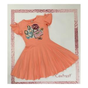 Детска рокля с къс ръкав за момиче