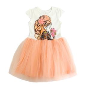 Детска рокля тип пачка с къс ръкав