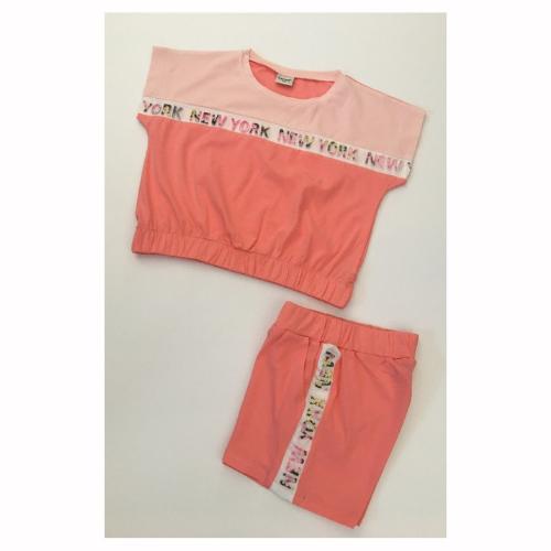 Детски летен комплект за момиче Contrast