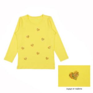 Детска блуза със сърчица